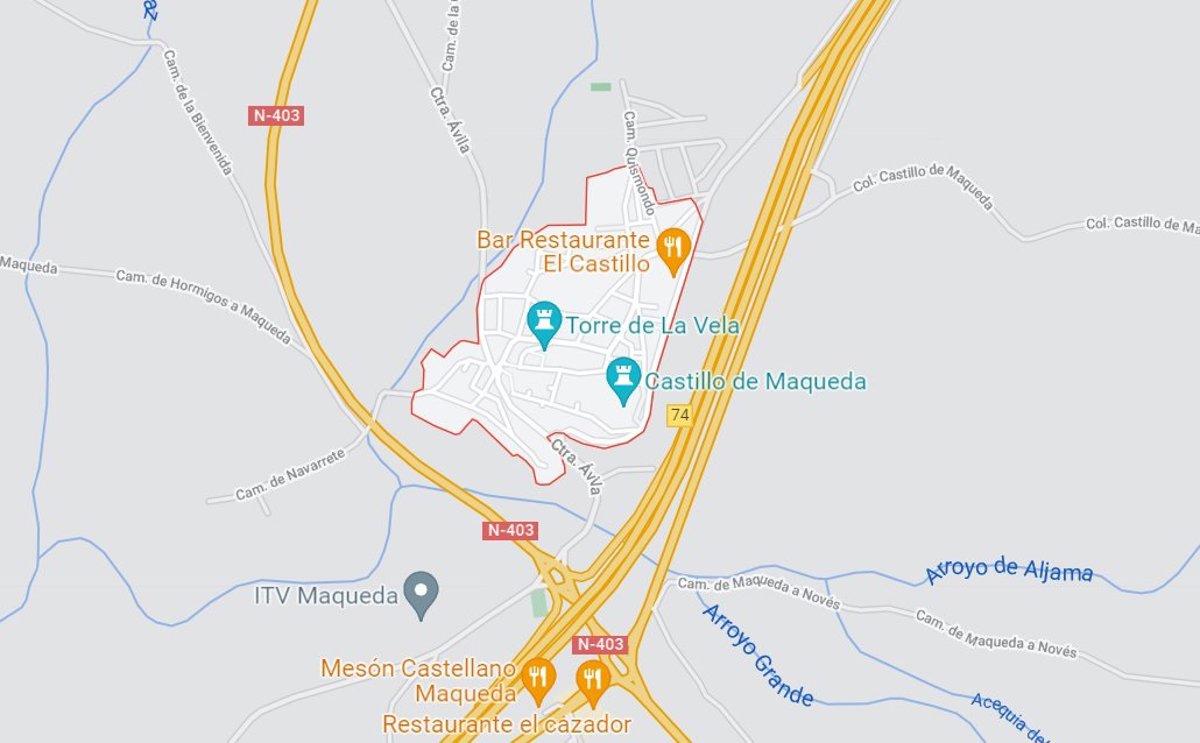 Fallece una persona tras salirse de la vía con su coche en Maqueda