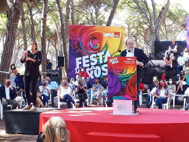 El ministre de Cultura i Esport i primer secretari del PSC, Miquel Iceta