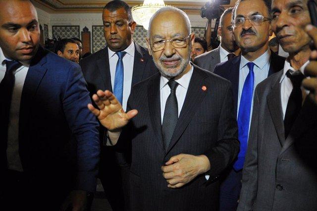 Archivo - Arxiu - Rached Ghannouchi, lider del principal partit islamista de Tunísia, Ennahda