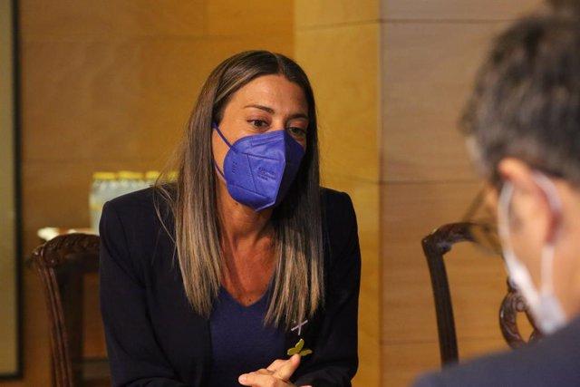 La portaveu parlamentària de Junts per Catalunya, Miriam Nogueras