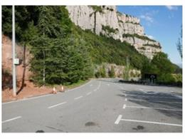 L'aparcament del monestir de Montserrat