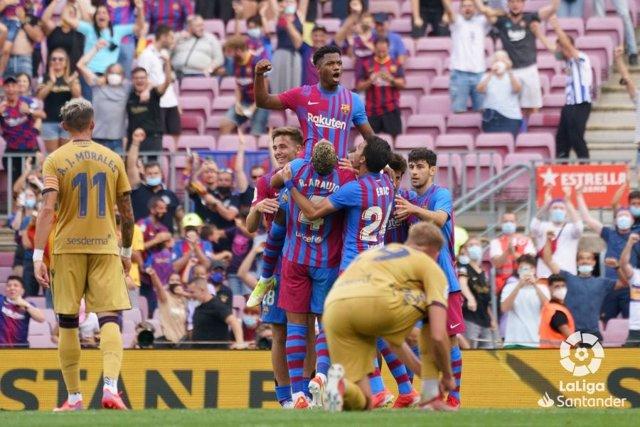 Ansu Fati marca el tercer gol del Barça ante el Levante