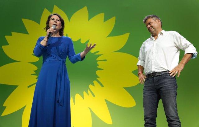 La candidata a la Cancillería de Alemania por Los Verdes, Annalena Baerbock