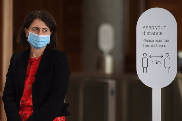 NSW Premier Gladys Berejiklian   during a COVID-19 update in Sydney, Monday, August 30, 2021. (AAP Image/Dean Lewins) NO ARCHIVING