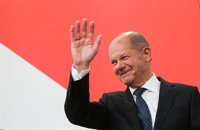 Olaf Scholz, ministro de Finanzas y candidato a canciller por el Partido Socialdemócrata de Alemania (SPD)