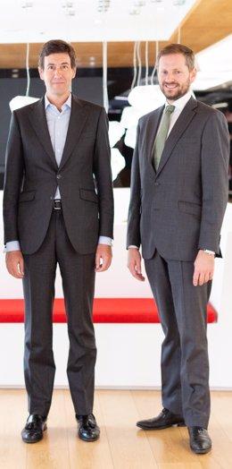 Álvaro Cobo, Managing Director de Gordon Brothers para España y Portugal; a la derecha Sergio Fernandes, Head of Capital Markets en JLL España