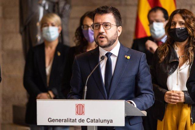 Arxiu - El president de la Generalitat de Catalunya, Pere Aragonès