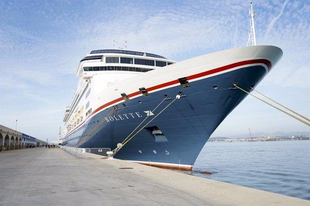 El creuer Bolette arriba al Port de Tarragona després de la pandèmia