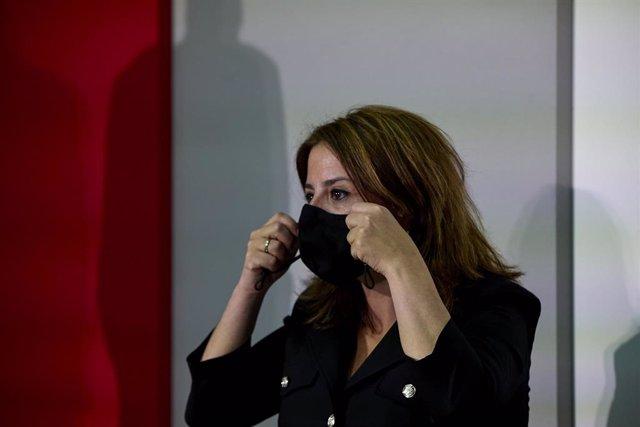 Archivo - Arxiu - La sots-secretària general del PSOE i portaveu del Grup Socialista al Congrés, Adriana Lastra