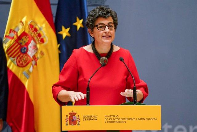 Archivo - Arxiu - L'exministra d'Afers exteriors, Unió Europea i Cooperació Arancha González Laya.