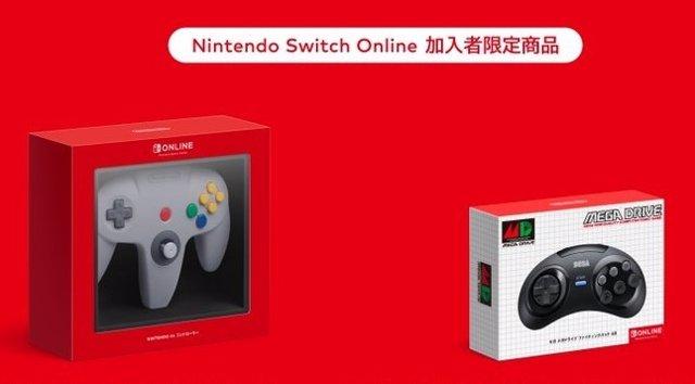 Nuevos mandos de Switch inspirados en Nintendo 64 y Mega Drive.