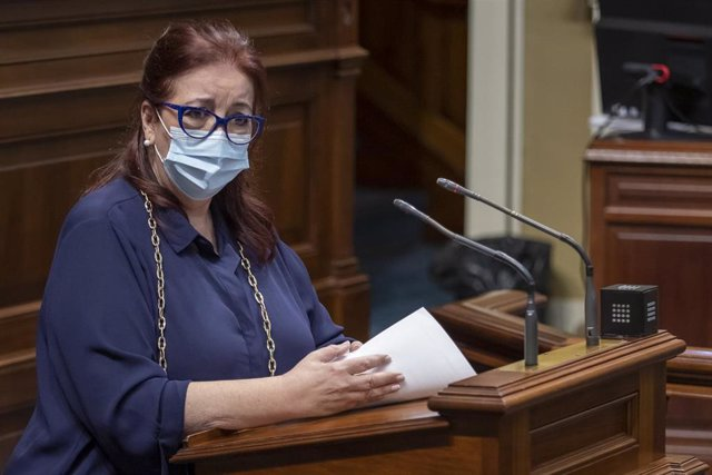 Archivo - La consejera de Educación, Universidades, Cultura y Deportes del Gobierno de Canarias, Manuela Armas