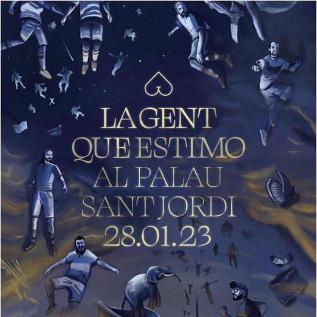Cartell del concert d'Oques Grasses al Palau Sant Jordi