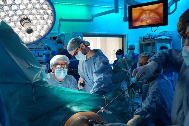 Professionals de l'Hospital Clínic de Barcelona utilitzen la tècnica TaTME