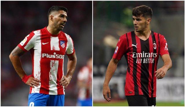 Suárez (Atlético) y Brahim (Milan)