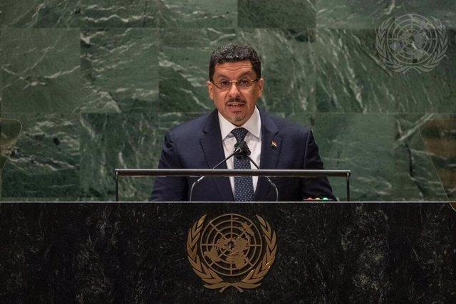 El ministro de Exteriores de Yemen, Ahmed Awad bin Mubarak.