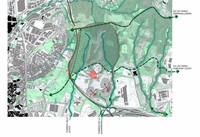 El Govern proposa crear un gran parc urbà a l'antic golf de Can Sant Joan (Barcelona)