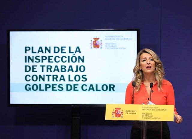Archivo - Arxivo - La vicepresidenta segona del Govern i ministra de Treball i Economia Social, Yolanda Díaz, en una imatge d'arxiu.