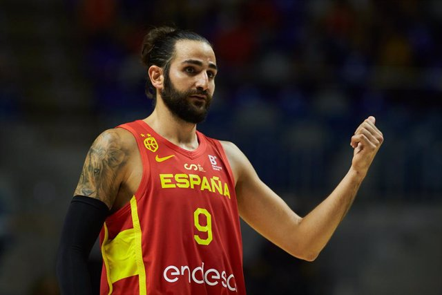 Archivo - Ricky Rubio of Spain during friendly match between Spain and France to preparation to Tokyo 2021 Olympics Games at Martin Carpena Stadium on July 08, 2021 in Malaga, Spain