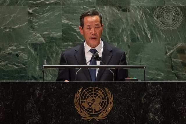 El embajador de Corea del Norte ante la ONU, Kim Song.