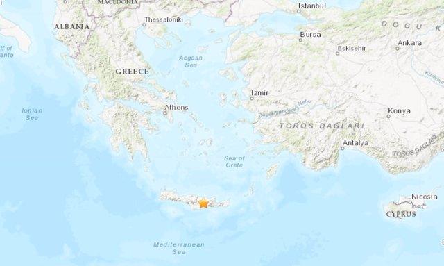 Un terremoto de magnitud 5,4 sacude la isla de Creta, en Grecia