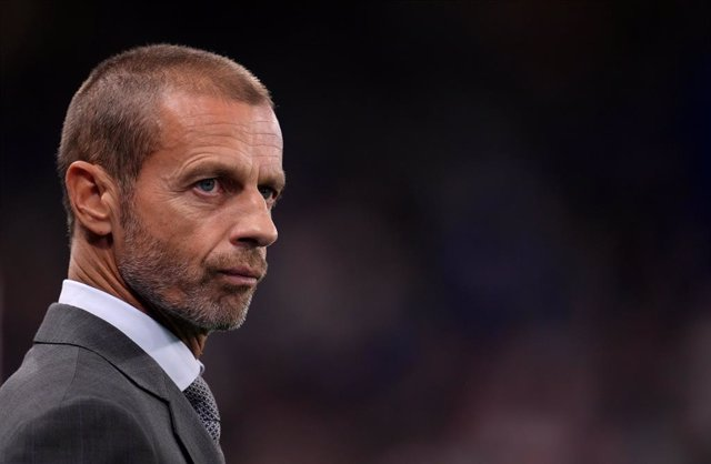 14 September 2021, United Kingdom, London: UEFA president Aleksander Ceferin pictured during the UEFA Champions League group H soccer match between Chelsea and Zenit St Petersburg at Stamford Bridge. Photo: John Walton/PA Wire/dpa