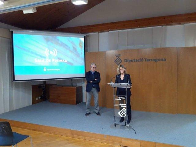 Presentación del acuerdo entre La Volta Ciclista a Catalunya y la Diputació de Tarragona para incluir la Costa Daurada y las Terres de l'Ebre en las ediciones de 2022 y 2023 de la ronda catalana