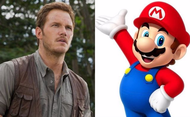 Chris Pratt junto a Mario Bros