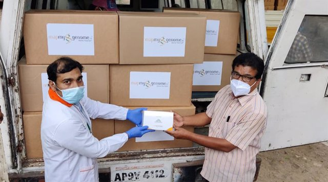 Zymo Research pays it forward by donating one million DNA/RNA Shield - DirectDetect test kits to Mapmygenome based in Hyderabad, India.