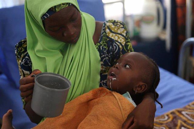 Archivo - Afectados por la Meningitis en Nigeria