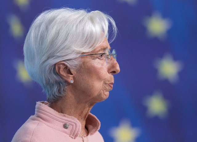 08 September 2021, Hessen, Frankfurt_Main: Christine Lagarde, President of the European Central Bank (ECB), speaks during the Bank's press conference. Photo: Boris Roessler/dpa