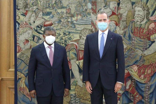 El Rey Felipe VI y el presidente de Angola, Joao Lourenço