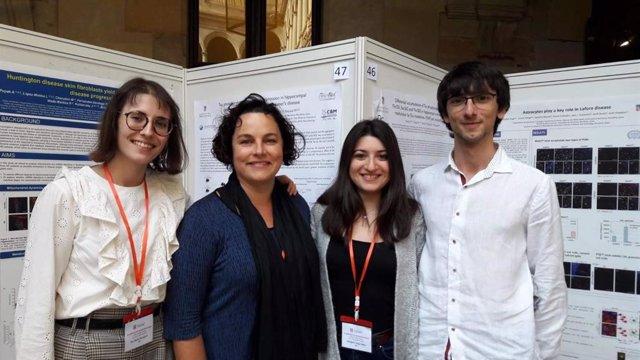 Los investigadores Eva Dávila-Bouziguet, Marta Pascual, Georgina Targa-Fabra y Arnau Casòliba-Melich.