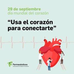 El Consejo General de Colegios Oficiales de Farmacéuticos se une al Día Mundial del Corazón.