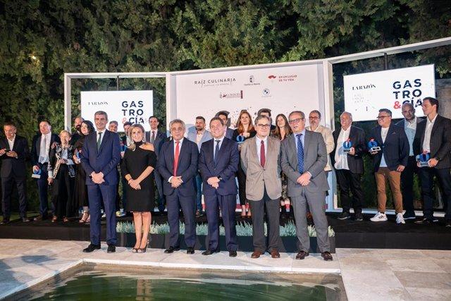 El presidente de Castilla-La Mancha, Emiliano García-Page, preside, en el Cigarral de las Mercedes en Toledo, la V edición de los premios gastronómicos 'GASTRO&CIA' que organiza el diario La Razón
