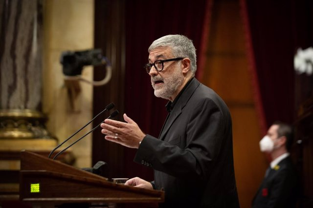 El diputat de la CUP Carles Riera en el debat de política general al Parlament