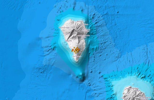 Activitat sísmica a Fuencaliente de La Palma