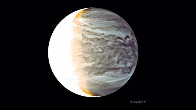 Noche en Venus en infrarrojos desde la órbita de la nave Akatsuki.