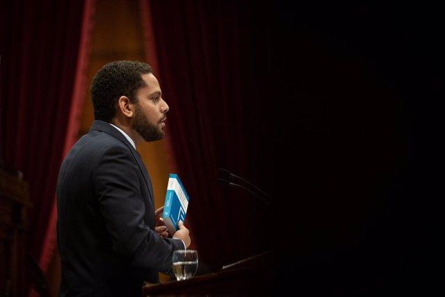 El líder de Vox al Parlament, Ignacio Garriga, en la segona sessió del debat de política general