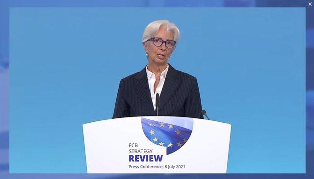 Archivo - Christine Lagarde, presidenta del BCE