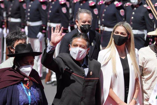 Archivo - El vicepresidente de Bolivia, David Choquehuanca, durante la toma de posesión en noviembre de 2020