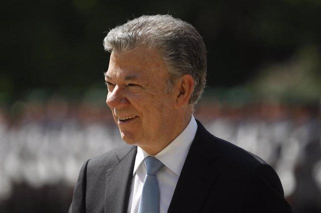 Archivo - El expresidente de Colombia José Manuel Santos
