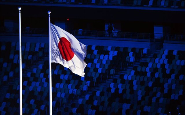 Archivo - 24 August 2021, Japan, Tokyo: The national flag of Japan can be seen during the opening ceremony of the Tokyo 2020 Paralympic Games at Olympic Stadium. Photo: Rob Walbers/BELGA/dpa