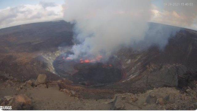Imagen de la última erupción del volcán Kilauea.