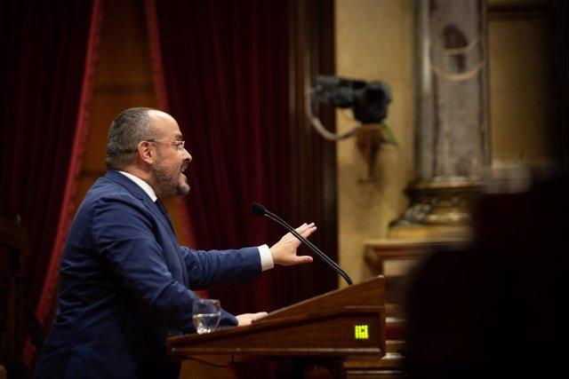 Arxiu - El líder del PP al Parlament, Alejandro Fernández