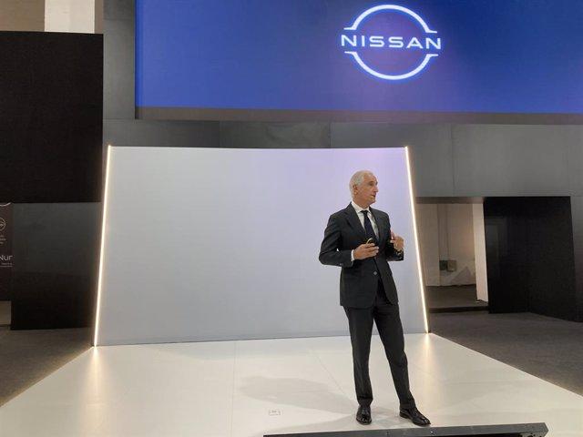 El conseller director general de Nissan Iberia, Bruno Matucci, durant la presentació
