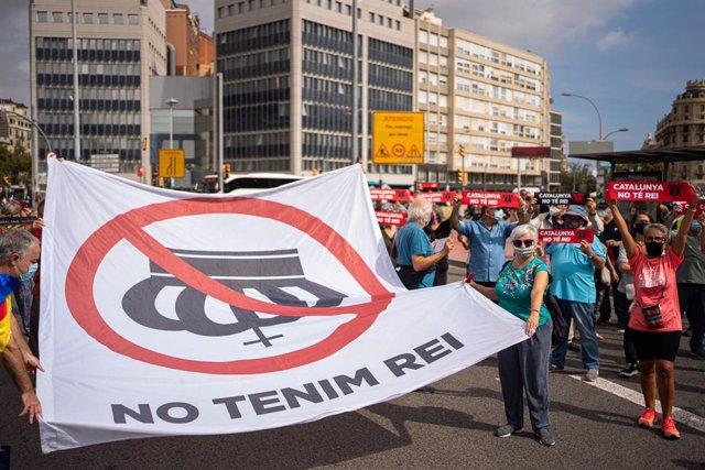 ANC y Òmnium convoca una manifestación de protesta contra el Rey en la plaza Espanya de Barcelona.