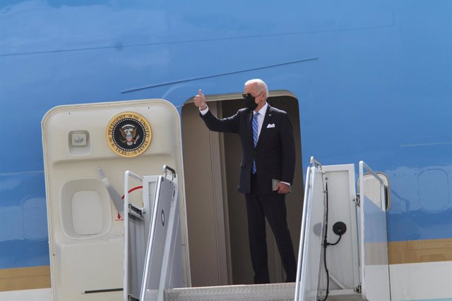 21 September 2021, US, New York: US President Joe Biden leaves New York City after delivering remarks at the 76th session of the United Nations General Assembly. Photo: Bruce Cotler/ZUMA Press Wire/dpa