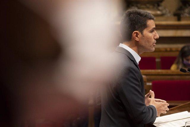 El portaveu de Cs al Parlament, Nacho Martín Blanco, en el debat de política general