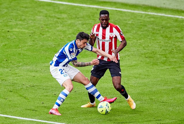 Archivo - Inaki Williams of Athletic Club during the Spanish league, La Liga Santander, football match played between Athletic Club and Deportivo Alaves at San Mames stadium on April 10, 2021 in Bilbao, Spain.